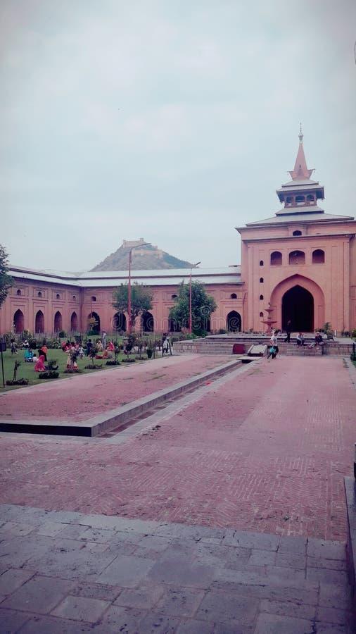 Jamia Masjid Srinagar kashmir royaltyfri bild