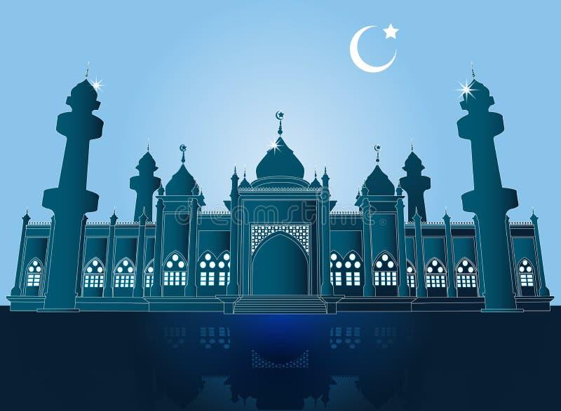 Jamiah moské i Pattani, Thailand, vektorillustration vektor illustrationer