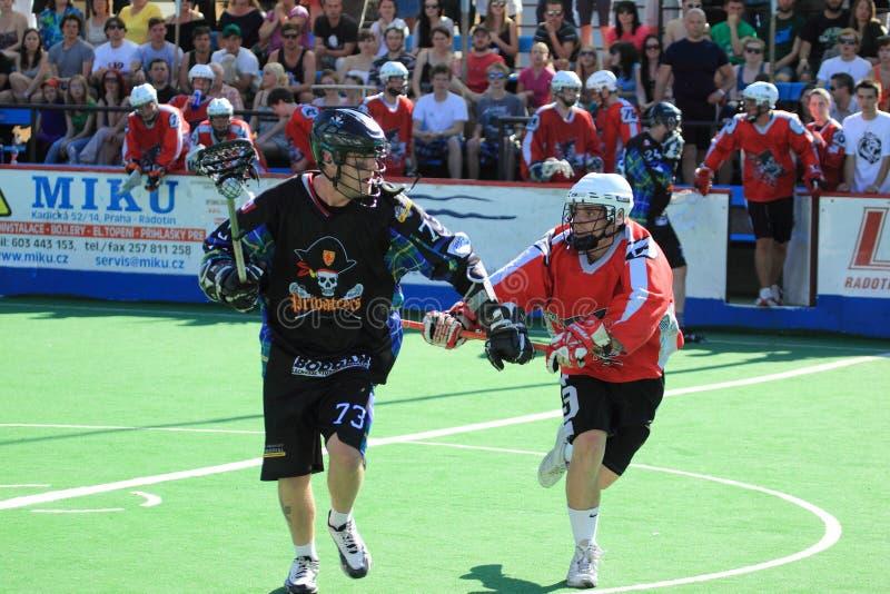 Jamie Barnett - lacrosse da caixa fotografia de stock royalty free