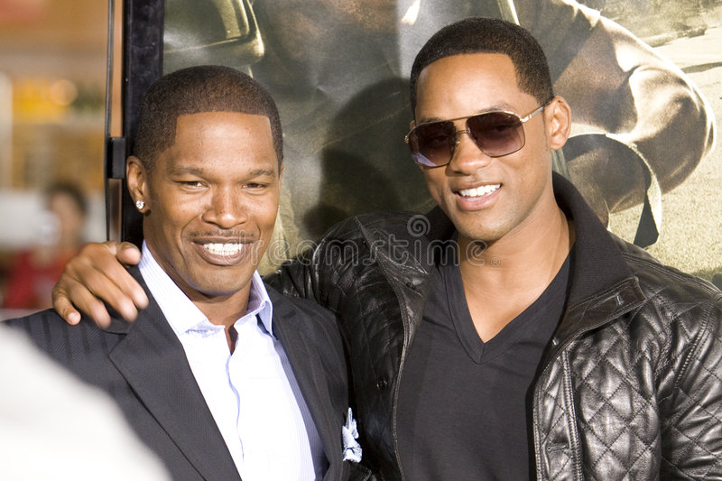 Jamie Foxx e Will Smith 4 immagini stock