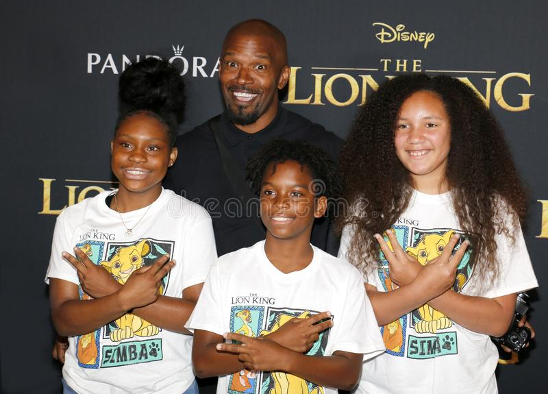 Jamie Foxx. At the World premiere of `The Lion King` held at the Dolby Theatre in Hollywood, USA on July 9, 2019 stock photo
