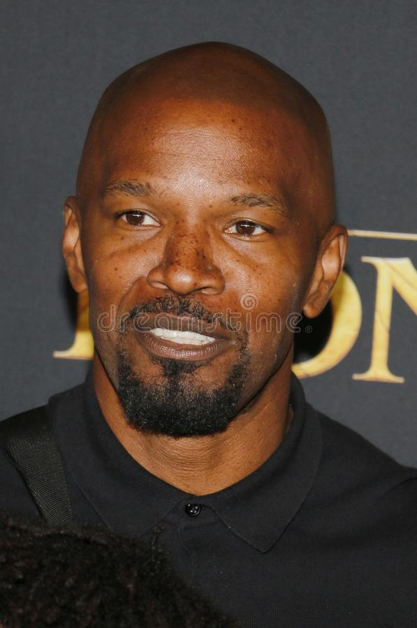 Jamie Foxx. At the World premiere of `The Lion King` held at the Dolby Theatre in Hollywood, USA on July 9, 2019 royalty free stock photo