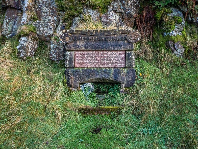 Jamie Wrights Well no Campsie abate, Escócia imagens de stock royalty free