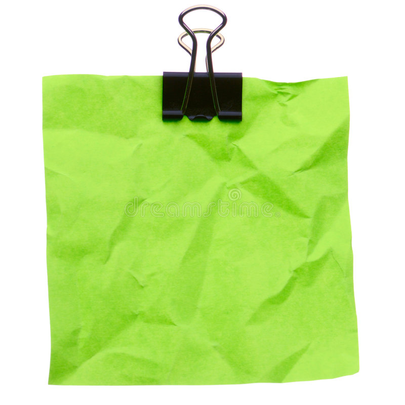 Download Jammed note stock photo. Image of blue, note, paperclip - 6710412