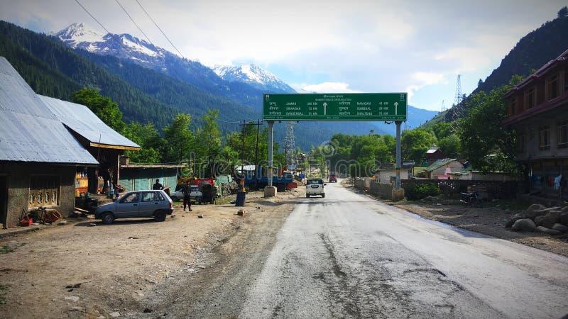 Jammu aan de kaartweergave van Srinagar royalty-vrije stock foto's