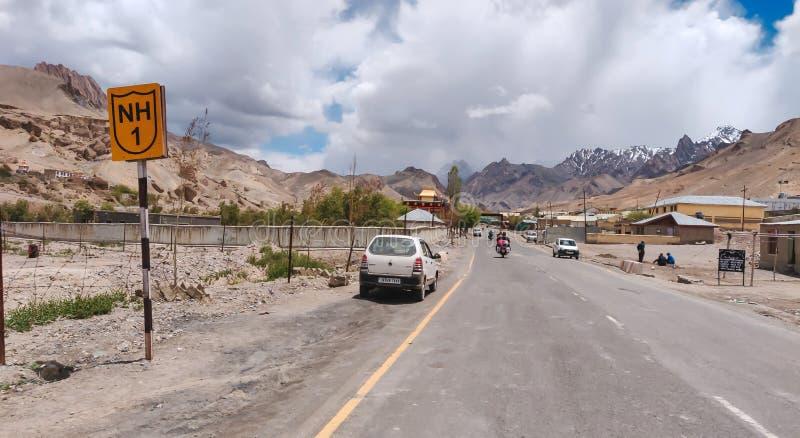 Jammu and Kashmir, India - June 18 2019: National Highway 1 leading to Leh, Ladakh royalty free stock photography