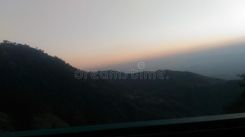 Evening view from vasnodevi royalty free stock photos