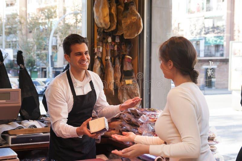 jamon和乳酪商店  图库摄影