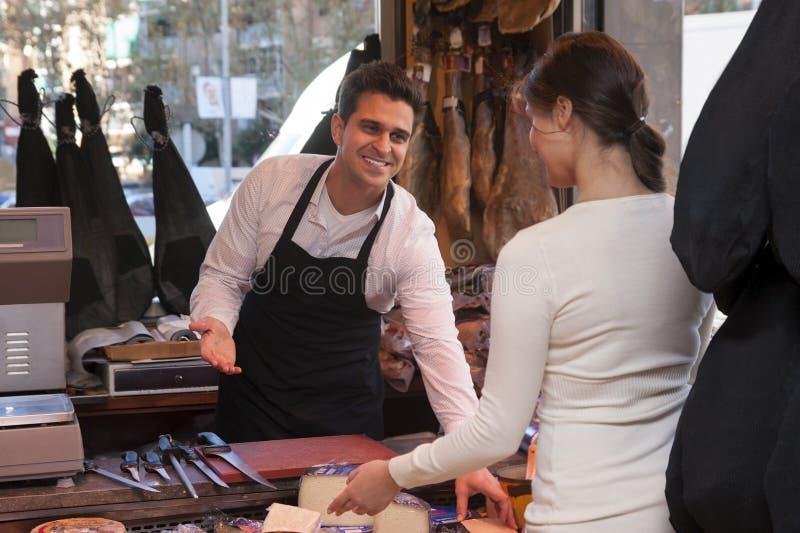 jamon和乳酪商店  免版税库存图片