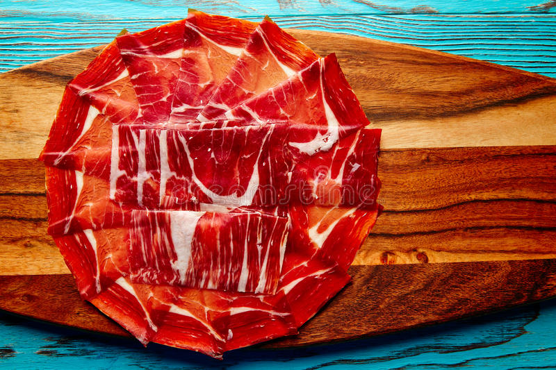 Jamon iberico han from Andalusian Spain stock photo