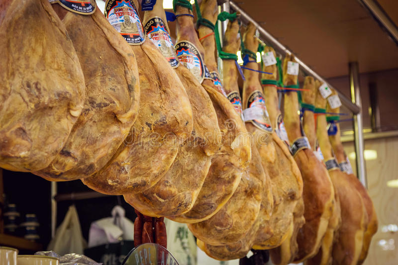 Download Jamon Market In Valencia, Spain Editorial Stock Photo - Image of lunch, cured: 83723468