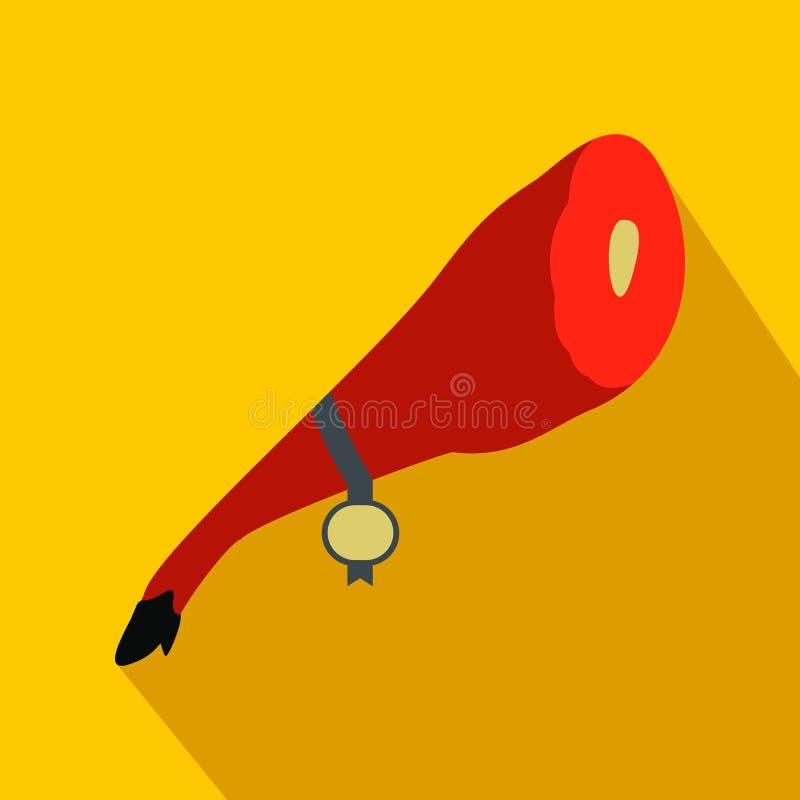 Jamon symbol, lägenhetstil vektor illustrationer