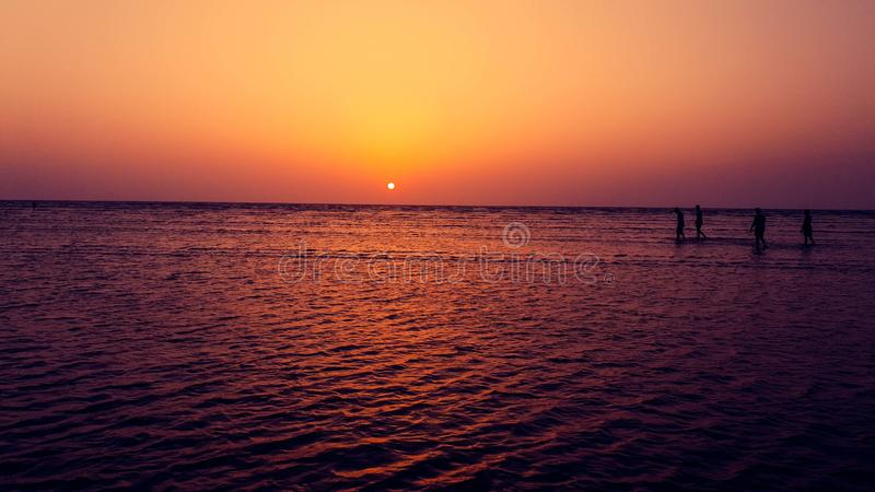 Jampore-Strand, daman, Gujarat, Indien stockfotos