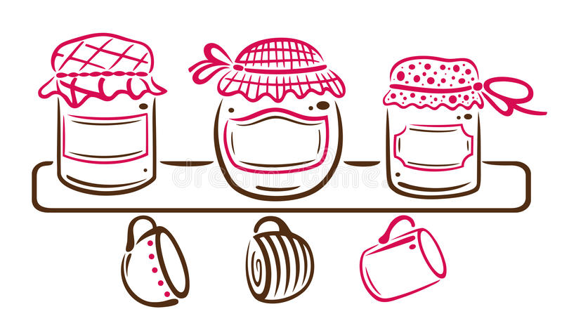 Jampotten vector illustratie