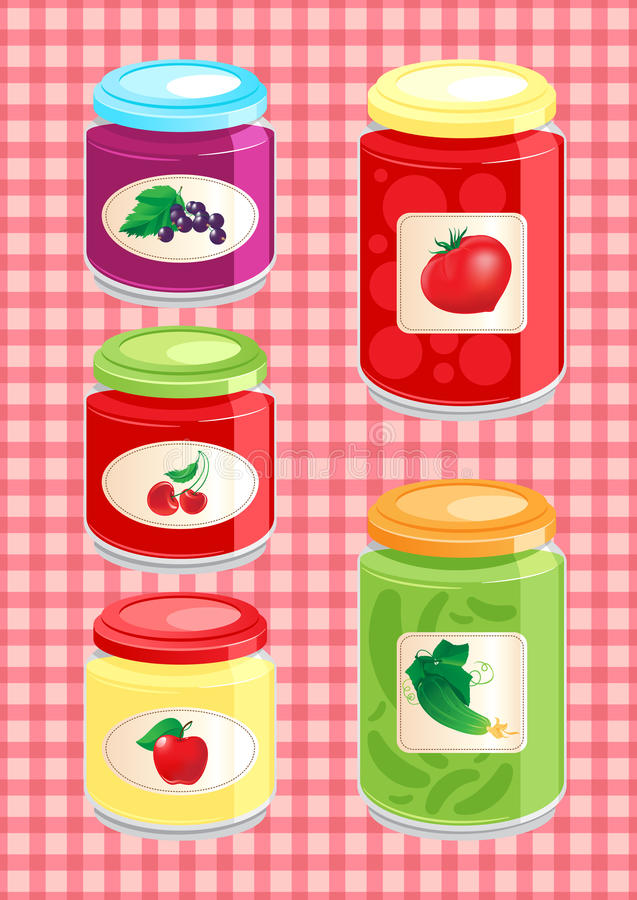 Download Jams And Pickled Vegetables Stock Photo - Image of glass, dessert: 26224170