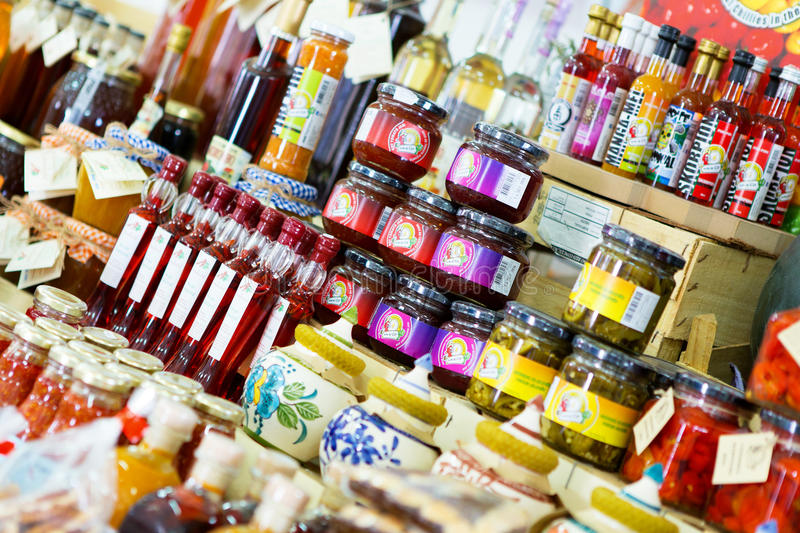 Jams and Preserves royalty free stock photography