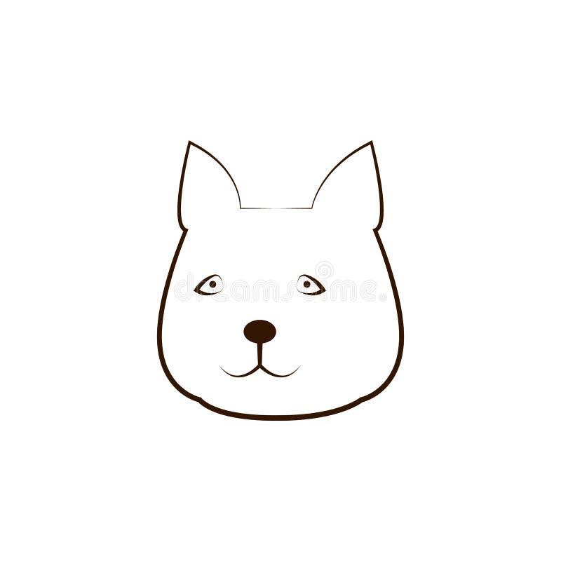 Jamthundpictogram Één van de hond kweekt hand trekt pictogram vector illustratie