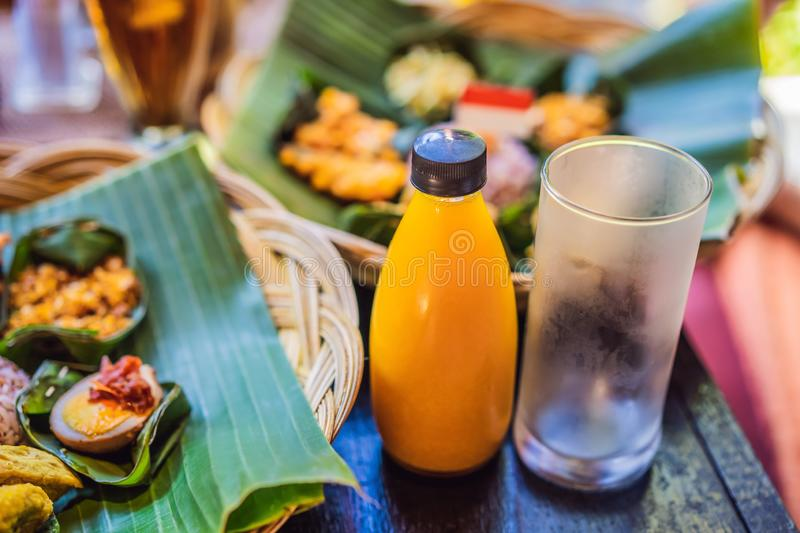 Jamu. Traditional medicine and herbal drink in Indonesia, most prevalent in Java. Made from natural materials, such as stock photos