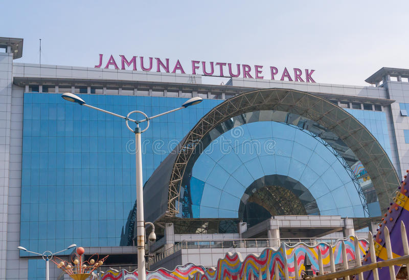 Jamuna Future Park in Dhaka, Bangladesh. DHAKA, BANGLADESH - JANUARY 12: Jamuna Future Park on Jan 12, 2015 in Dhaka, Bangladesh. It is the largest shopping mall stock photo