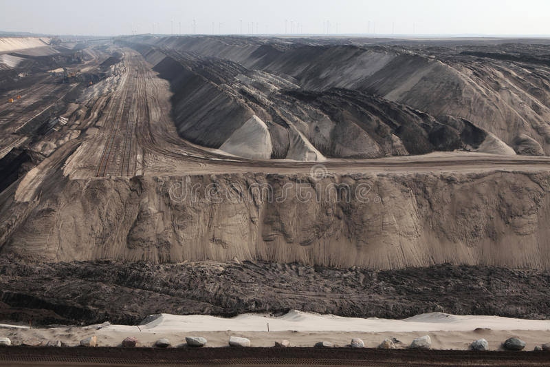 Jamy coalmining blisko Cottbus, Brandenburg, Niemcy zdjęcie royalty free