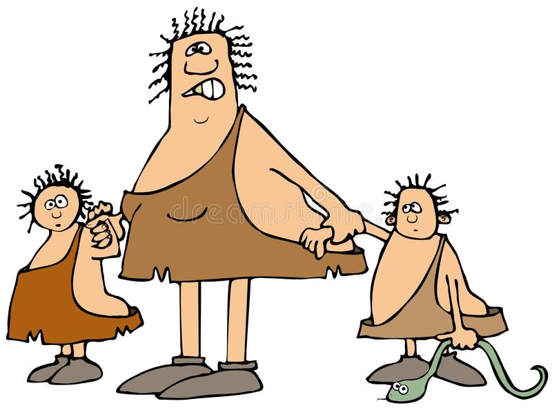 Jamy kobieta i dwa dzieciaka ilustracja wektor