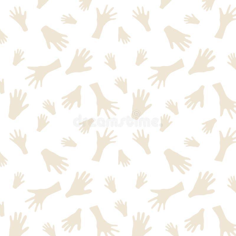 jamy obrazu wzór bezszwowy Ręka obrazów tło ilustracja wektor