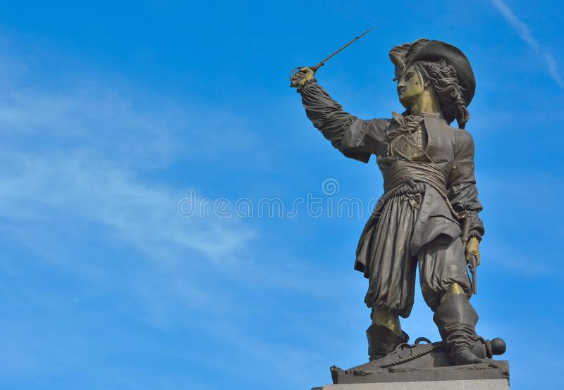 Jan Baert, anche conosciuto per il suo nome francese Jean Bart, [1] Dunkerque, il 21 ottobre 1650 27 aprile 1702 era un fiammingo fotografie stock