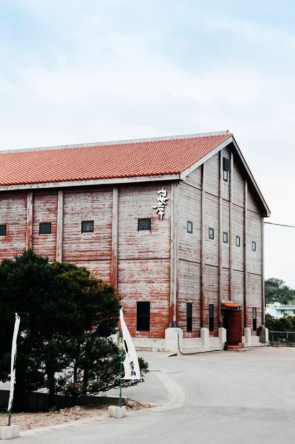 Old wooden awamori distrillery building, Naha, Okinawa, JAPAN stock photos