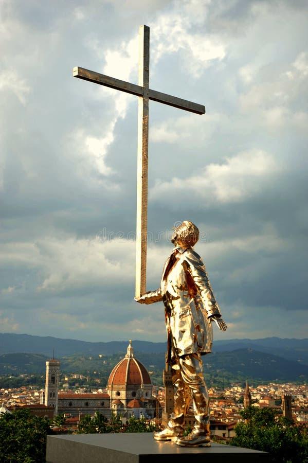Jan Fabre dzisiejszej ustawy wystawa w Florencja, Włochy fotografia royalty free