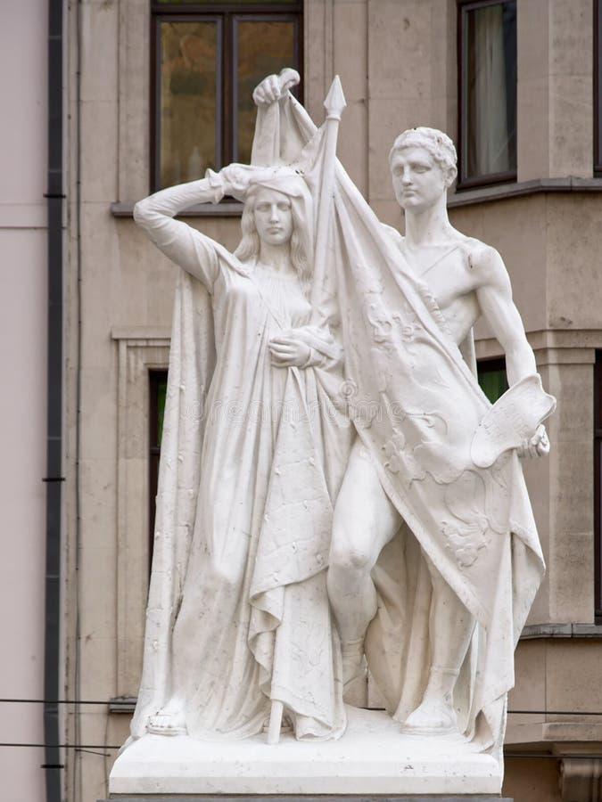 Jan Frans Willems staty, Ghent arkivbilder