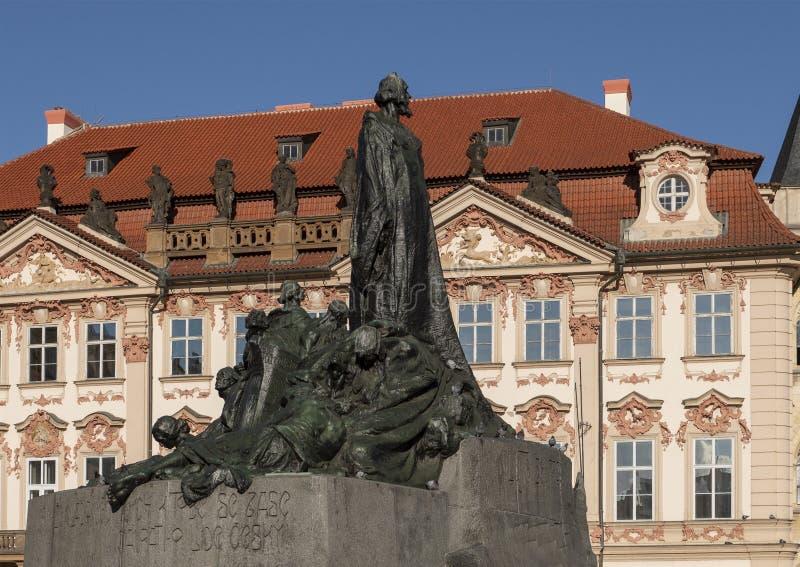 Jan Hus Memorial, vieille place, Prague, République Tchèque photographie stock