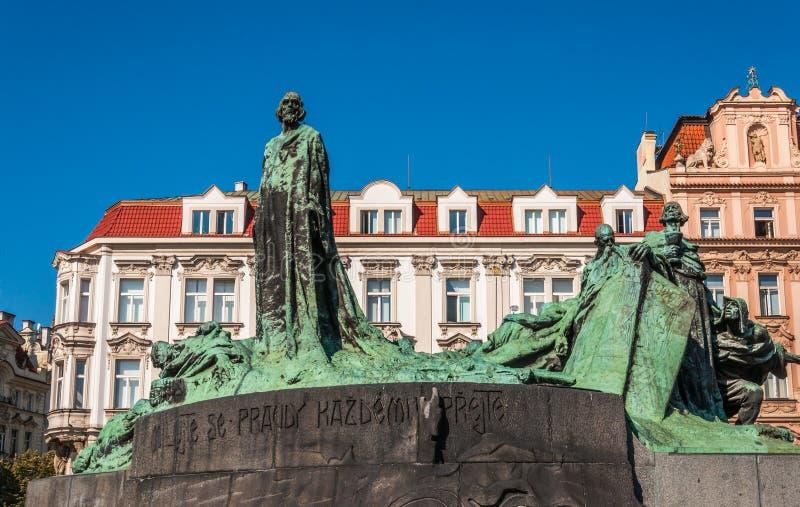 Download Jan Hus-monument stock afbeelding. Afbeelding bestaande uit maagdelijk - 39114503