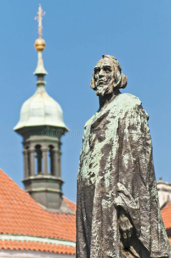 Download Jan Hus statue stock image. Image of prague, exterior - 20325977