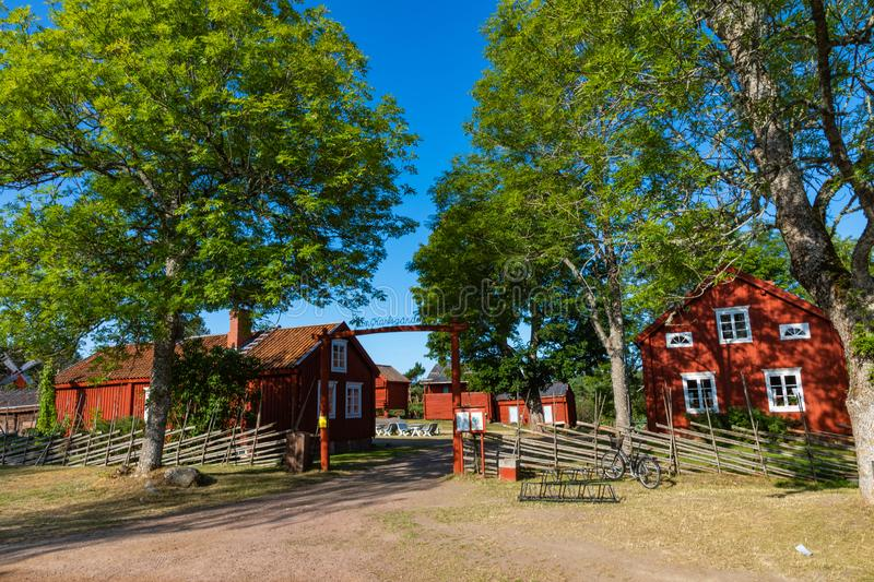 Jan Karlsgarden open air museum at Aland islands, Finland. The museum was founded in 1930s. Ethnographic park stock photography