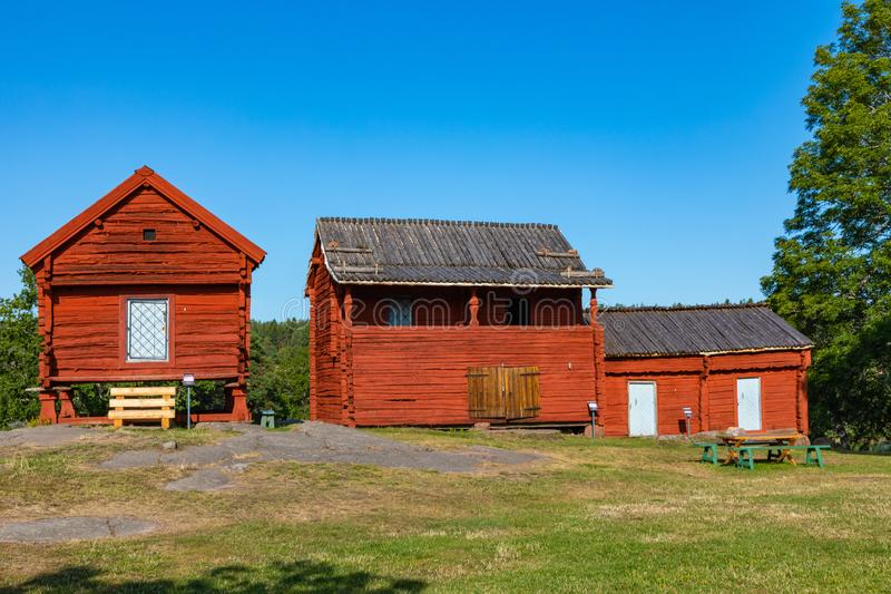 Jan Karlsgarden open air museum at Aland islands, Finland. The museum was founded in 1930s. Ethnographic park.  royalty free stock photography
