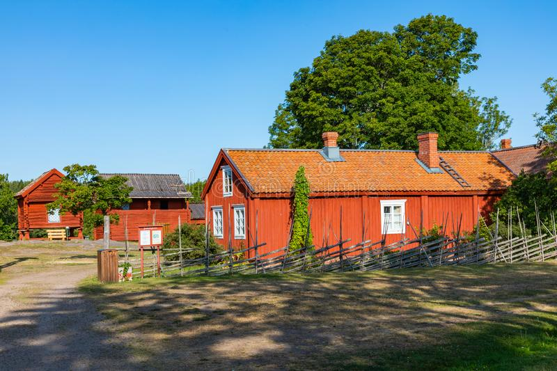 Jan Karlsgarden open air museum at Aland islands, Finland. The museum was founded in 1930s. Ethnographic park royalty free stock images