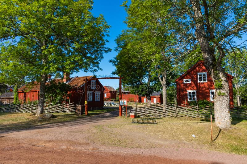 Jan Karlsgarden open air museum at Aland islands, Finland. The museum was founded in 1930s. Ethnographic park stock image