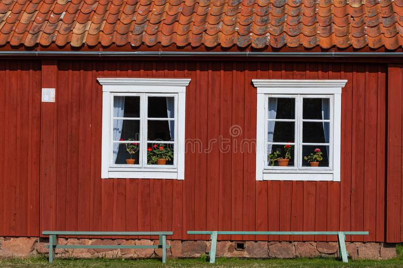 Jan Karlsgarden open air museum at Aland islands, Finland. The museum was founded in 1930s. Ethnographic park stock images