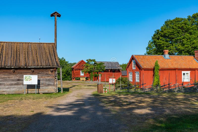 Jan Karlsgarden open air museum at Aland islands, Finland. The museum was founded in 1930s. Ethnographic park royalty free stock photo