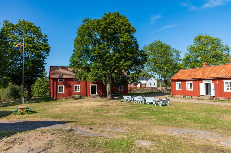 Jan Karlsgarden open air museum at Aland islands, Finland. The museum was founded in 1930s. Ethnographic park royalty free stock photography