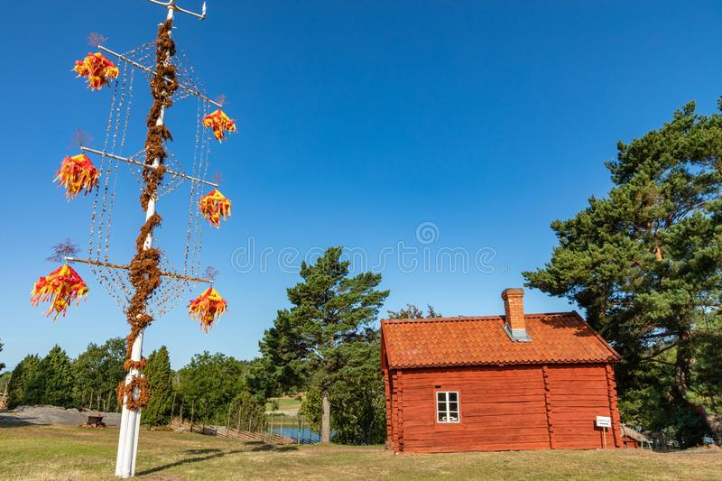 Jan Karlsgarden open air museum at Aland islands, Finland. The museum was founded in 1930s. Ethnographic park.  stock photo