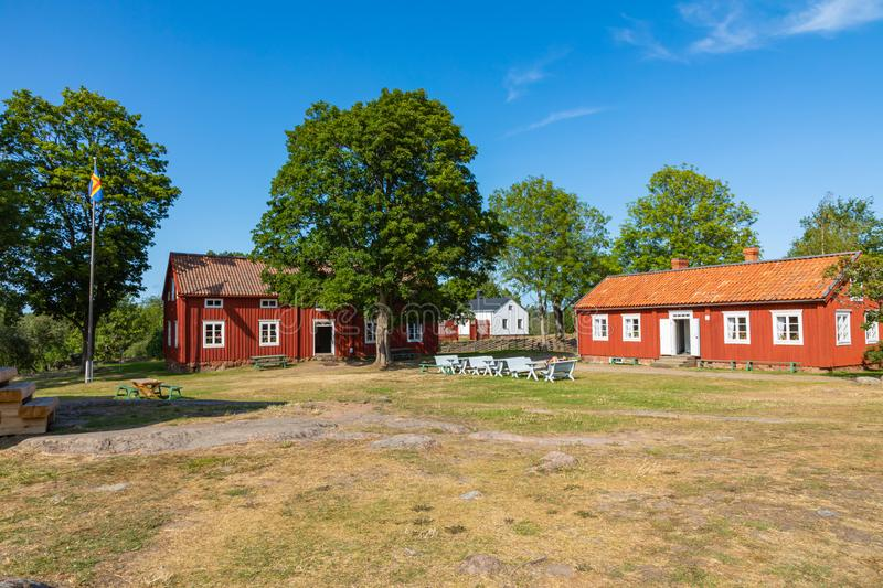 Jan Karlsgarden open air museum at Aland islands, Finland. The museum was founded in 1930s. Ethnographic park.  royalty free stock images