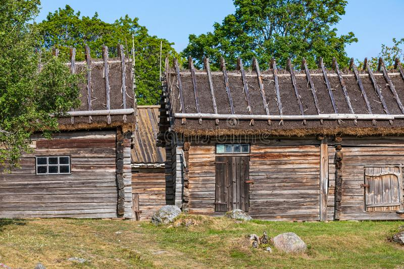Jan Karlsgarden open air museum at Aland islands, Finland. The museum was founded in 1930s. Ethnographic park.  royalty free stock photo