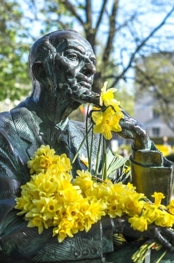 Jan Karski monument royaltyfria bilder