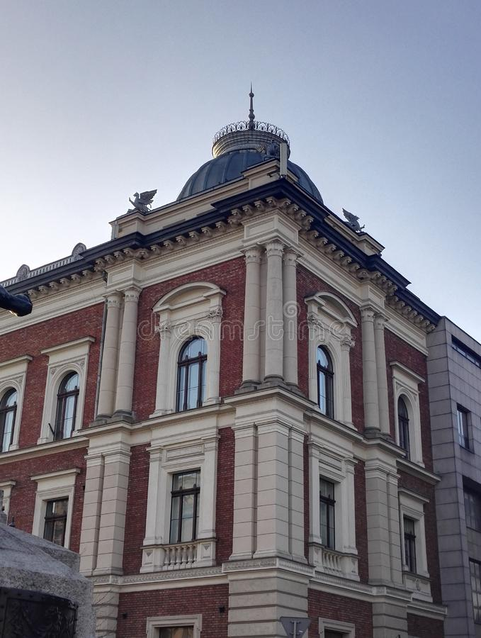 Jan Matejko Academy das belas artes, Krakow, Polônia fotos de stock royalty free