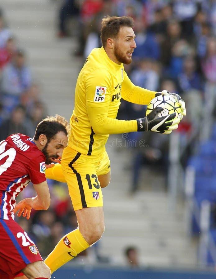 Jan Oblak von Atletico Madrid stockfoto