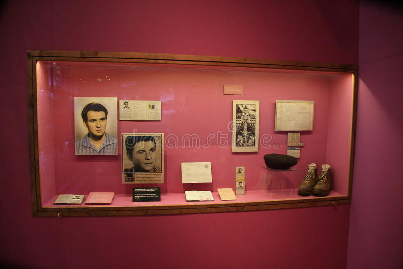 Jan Palach-_exhibition_personal Artefakte stockfoto