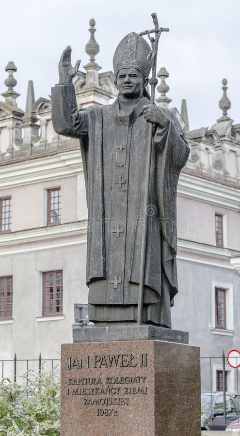 Free Jan Paul II Monument In The Courtyard Of The Cathedral Stock Image - 40874961