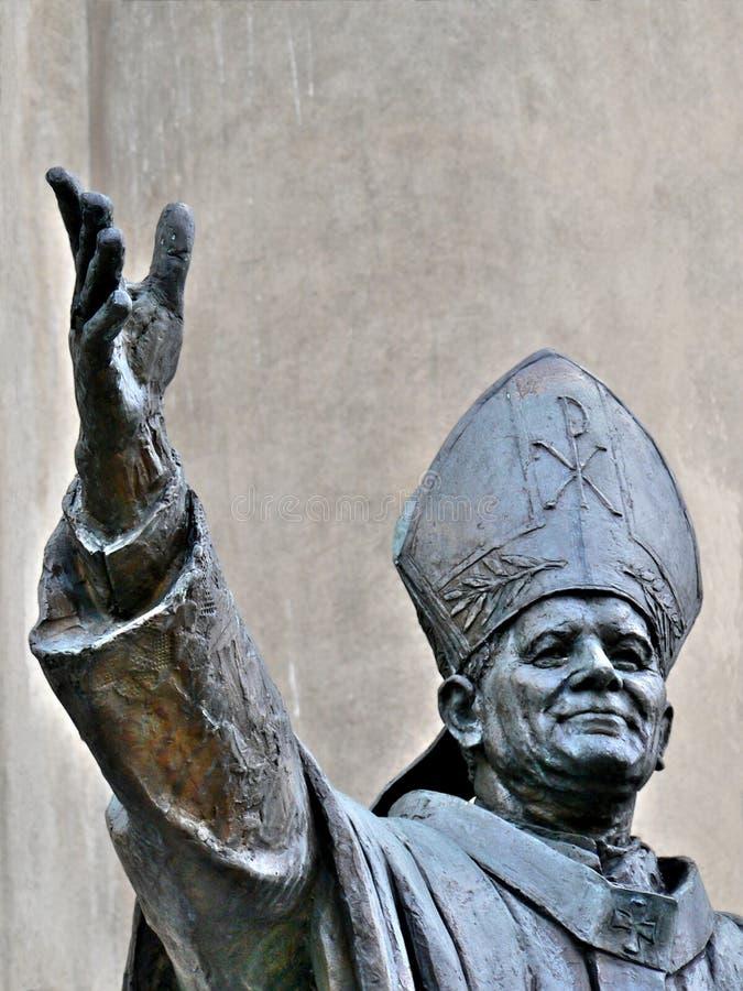 Jan Paweł ii pope posąg fotografia royalty free