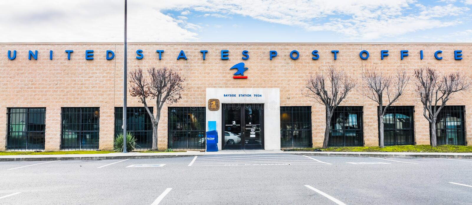 Jan 12, 2020 San Jose / CA / USA - United States Postal Services Office in South San Francisco Bay Area stock images